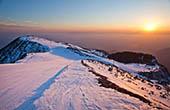 Sonnenuntergang Skigebiet Krvavec