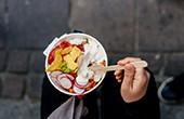 Vegetarische Mahlzeit - Odprta kuhna
