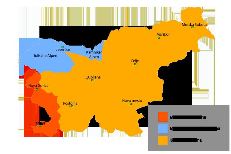 Karte Klima Slowenien