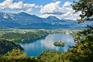 Bled - Panorama See, Ort, Alpen