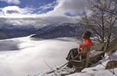 Ausblick Winterwanderung Bohinj