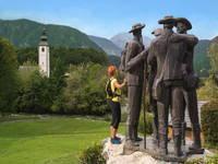 Bohinj - Statue 4 mutige Männer