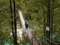 Kobarid - Wandern, Hängebrücke Soca