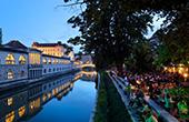 Ljubljana - Cafes & Bars am Zentralmarkt