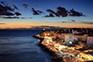 Piran - Nachtaufnahme Altstadt & Meer