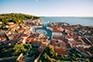 Piran - Luftaufnahme Altstadt & Tartinijev Trg