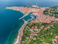 Piran - Luftaufnahme Panoramaflug