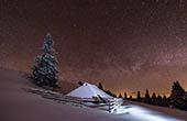 Velika Planina bei Nacht