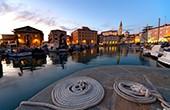Hafen Piran, Abend